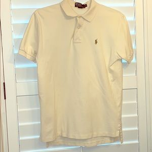 GUC cream colored polo by Ralph Lauren